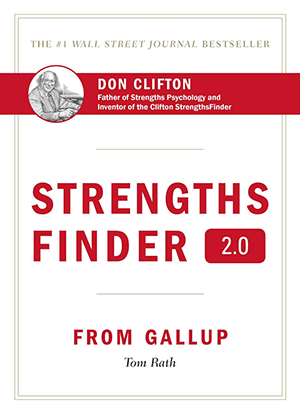 Front cover of the Strengths Finder book, by Don Clifton