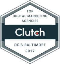 Clutch Award - Top Digital Marketing Agencies - DC & Baltimore 2017